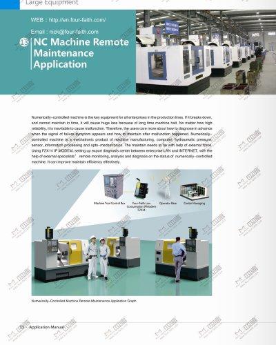 Numerically-controlled machine remote maintenance