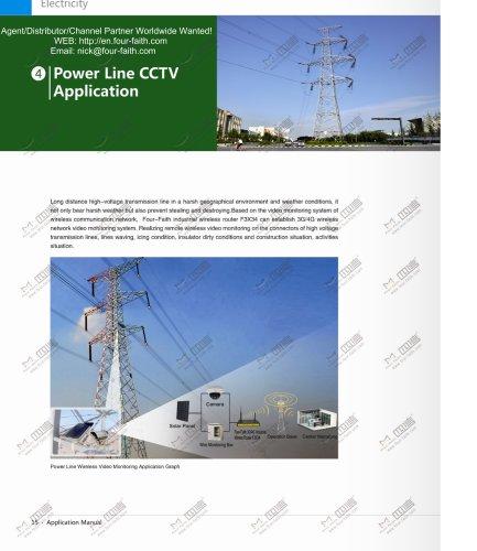 Power line CCTV wireless video monitoring application