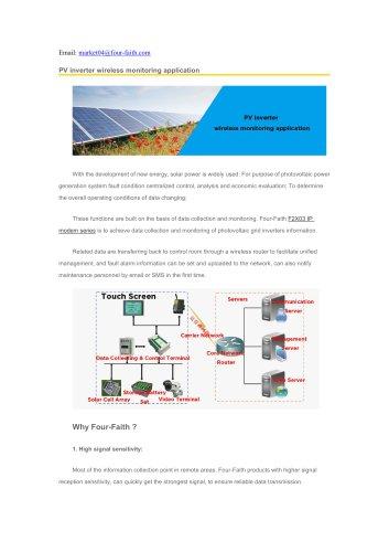 PV inverter wireless monitoring application