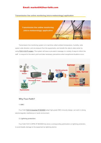 Transmission line online monitoring (micro-meteorology) application
