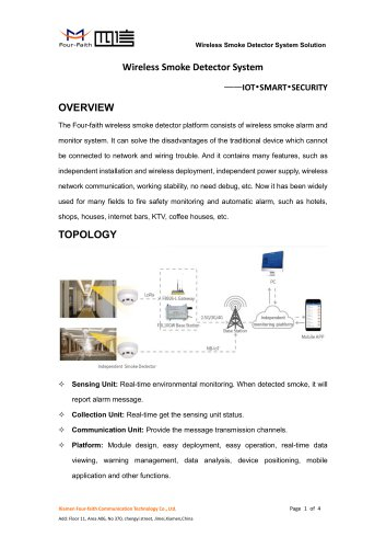 Wireless Smoke Detector System Product Introduce V2.0