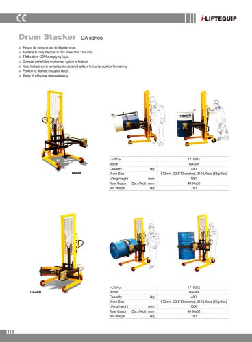i-Lift/Hu-Lift Drum Lifting and Tilting Truck DA