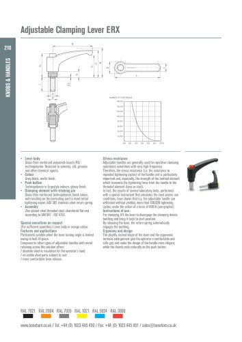 Adjustable Clamping Lever ERX