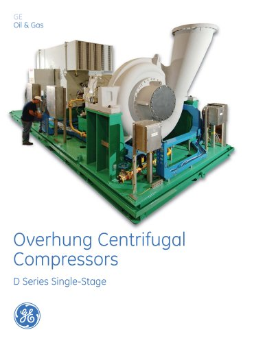 Overhung Centrifugal Compressors D Series Single-Stage