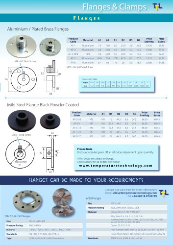 FLANGES & MOUNTING BRACKETS