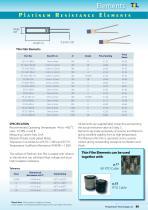 Platinum Resistance Elements - 1