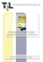 SR50 Bench Portable Welder Operations & Instruction Manual