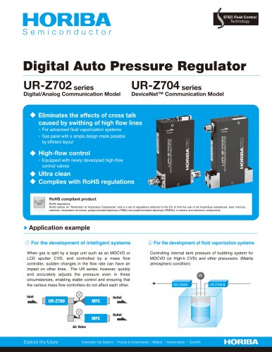 Auto Pressure Regulator_UR-Z700 series