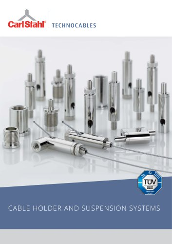 Catalogue lighting industry: cable holder / suspension systems