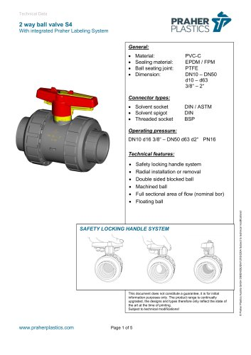 2 way ball valve S4