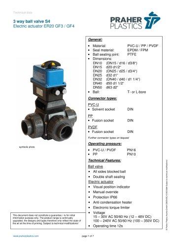 3 way ball valve S4