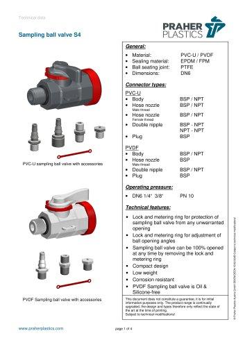 Sampling ball valve S4