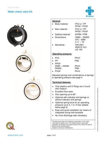 Wafer check valve K4
