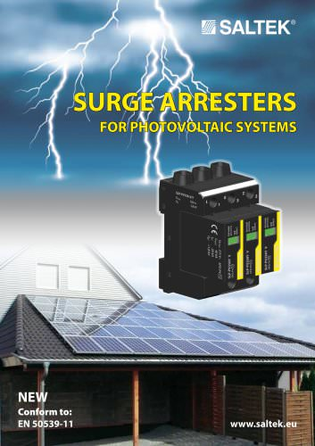 Surge arresters  for photovoltaic systems