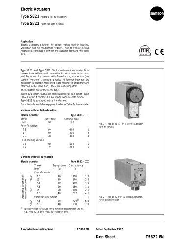 Electric Actuators Type 5821 Type 5822