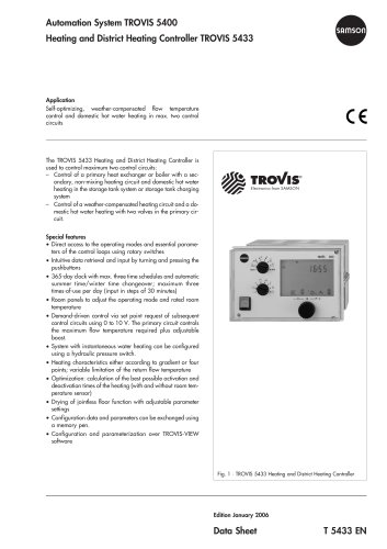 Heating and District Heating Controller TROVIS 5433