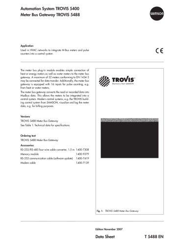 Meter Bus Gateway TROVIS 5488
