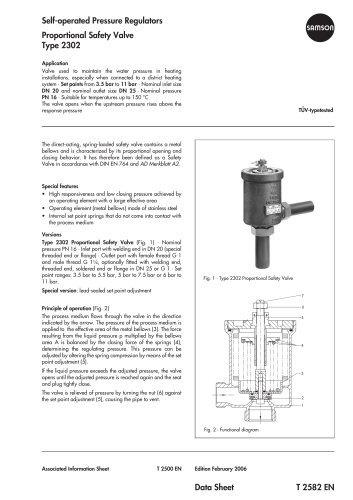 Proportional Safety Valve Type 2302