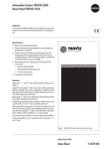 Room Panel TROVIS 5570