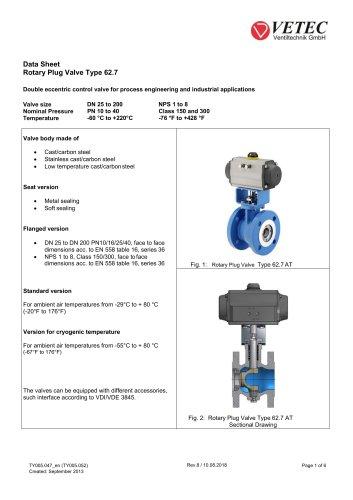 Rotary Plug Valve Type 62.7