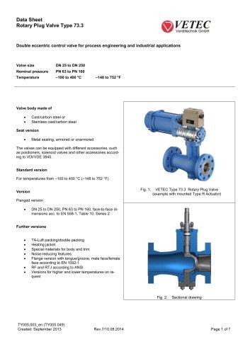 Rotary Plug Valve Type 73.3