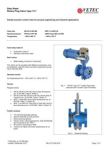 Rotary Plug Valve Type 73.7