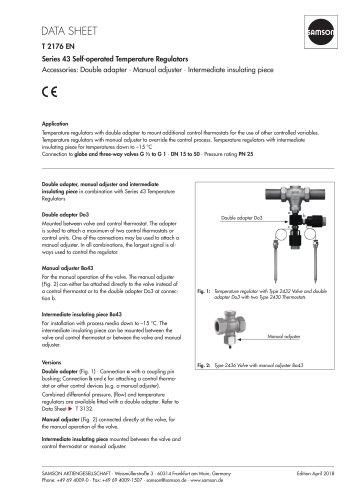 Series 43 Self-operated Temperature Regulators