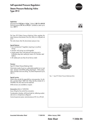Steam Pressure Reducing Valve Type 39-2