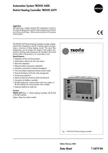 TROVIS 5400 TROVIS 5479 District Heating Controller