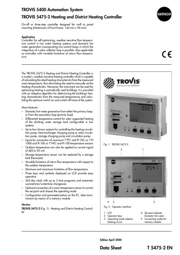 TROVIS 5475-2 Heating and District Heating Controller