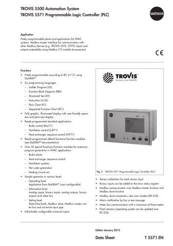 TROVIS 5571 Programmable Logic Controller (PLC)