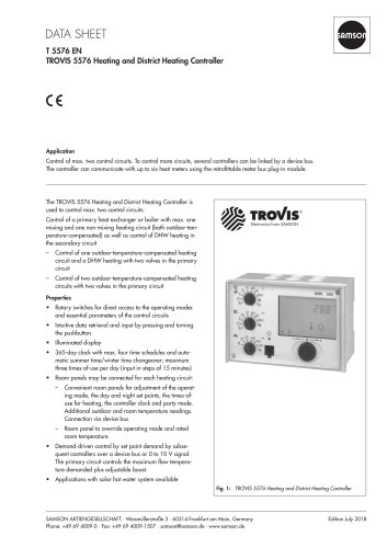 TROVIS 5576 Heating and District Heating Controller