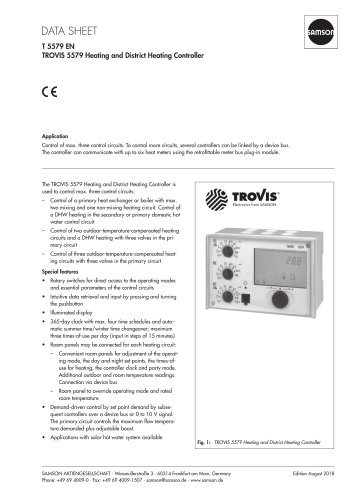 TROVIS 5579 Heating and District Heating Controller