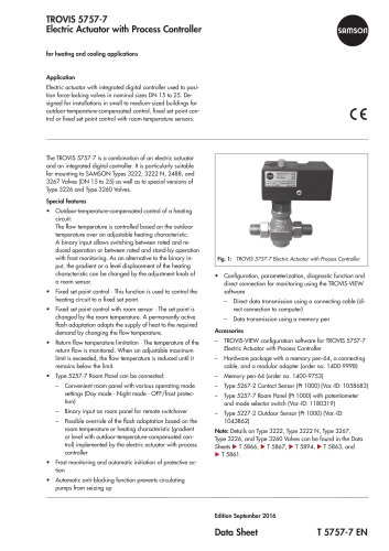 TROVIS 5757-7 Electric Actuator with Process Controller