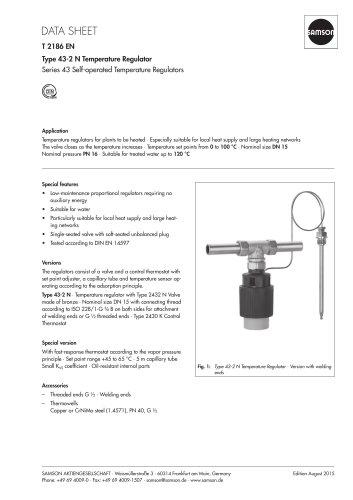 Type 43-2 N Temperature Regulator