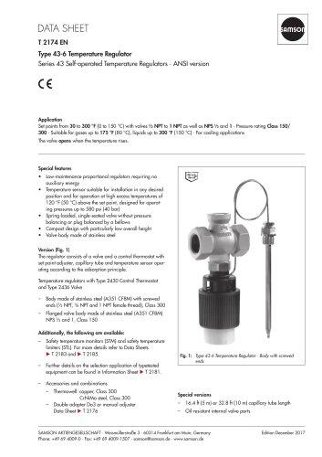 Type 43-6 Temperature Regulator