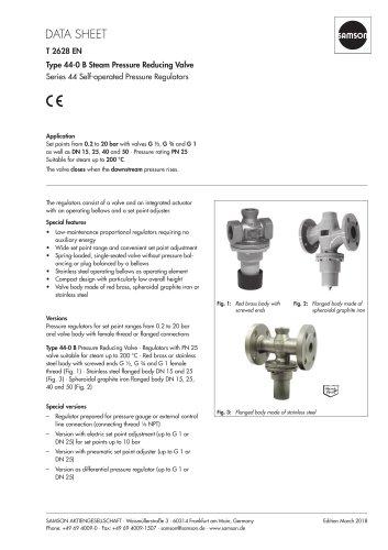 Type 44-0 B Steam Pressure Reducing Valve