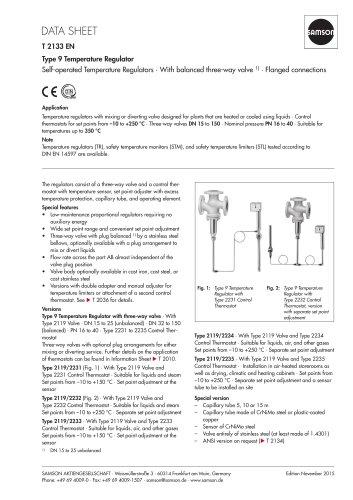 Type 9 Temperature Regulator