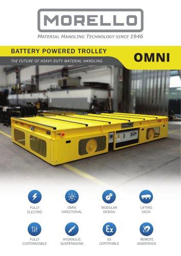 OMNI - Multidirectional battery trolley for heavy duty