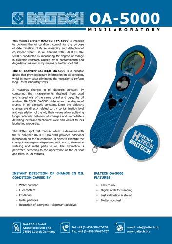 Portable Oil Analyser BALTECH OA-5000