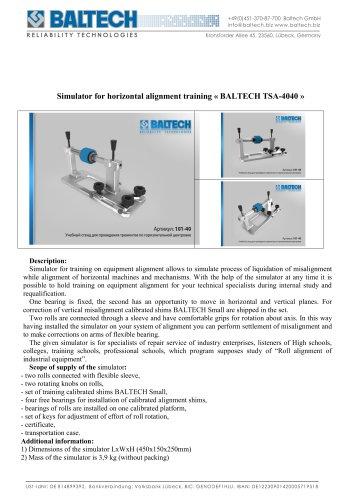 Training Stand BALTECH TSA-4040
