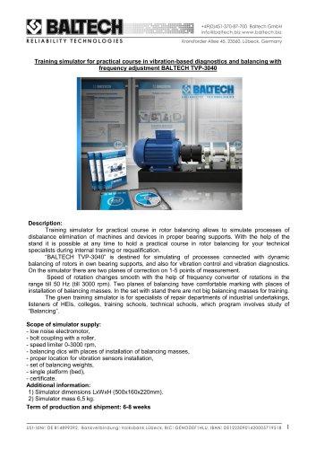 Training Stand BALTECH TVP-3040