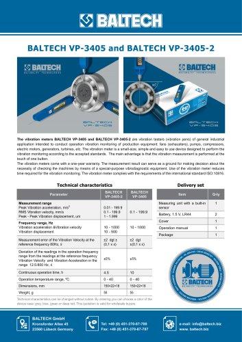 Vibration Meter BALTECH VP-3405