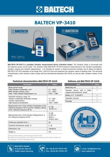Vibration Meter BALTECH VP-3410