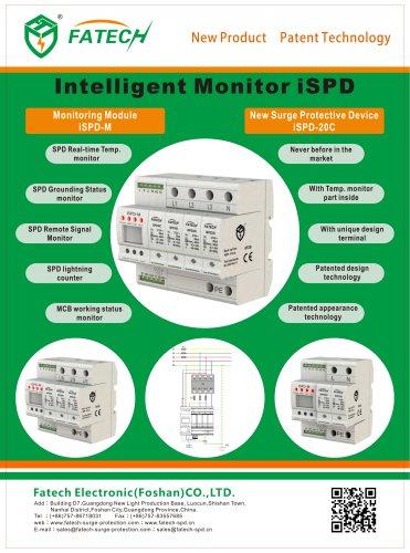 FATECH 3 poles intelligent surge protector iSPD20C/3-xxx S