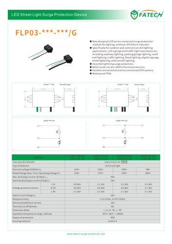 FATECH 6kA LED street light SPD FLP03 G