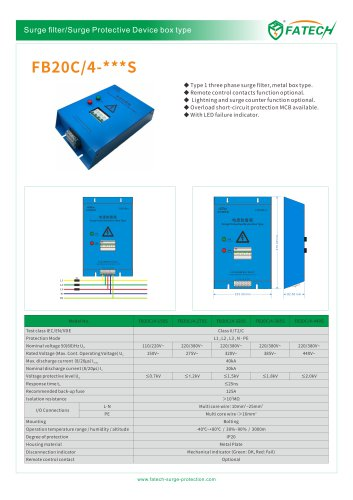 FATECH BOX TYPE SPD FB20C