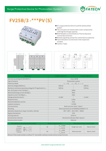 FATECH DC SPD catalogue for PV solar system