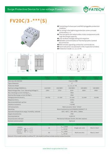 FATECH surge arrester FV20C/3-275 for low voltage power system