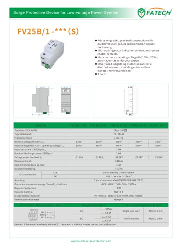 FATECH surge arrester FV25B/1-150 for class 1 main-distritution board